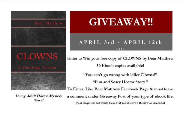 Clowns GiveAway Flyer