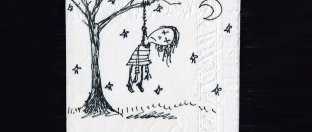 Napkin Art of Tim Burton